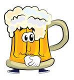 Sad beer cartoon Royalty Free Stock Photography