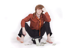 Sad beggar Stock Photography