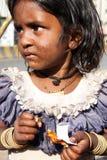 Sad Beggar Girl Royalty Free Stock Photography