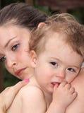 SAD behandla som ett barn Fotografering för Bildbyråer