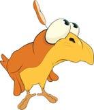 Sad birdie.Cartoon Stock Image