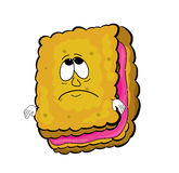 Sad biscuit cartoon Stock Photos