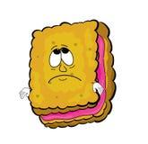 Sad biscuit cartoon Stock Photos