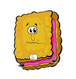 Sad biscuit cartoon Stock Photo
