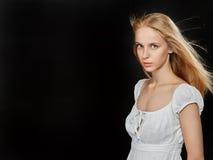 Sad blond girl Royalty Free Stock Photography
