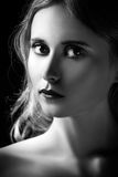Sad blond girl portrait Stock Images