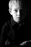 SAD blond pojke Arkivbilder