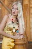 Sad Blond Woman Stock Photography