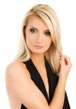 Sad blond woman Stock Photos