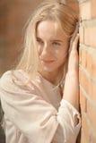 Sad blond woman Royalty Free Stock Photo