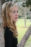 Sad blonde Stock Photo