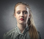 Sad Blonde Girl Royalty Free Stock Photography