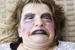 Sad blonde woman Royalty Free Stock Photo