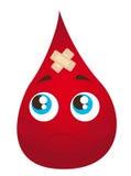 Sad blood drop Royalty Free Stock Photo