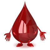 Sad blood drop character Royalty Free Stock Photo