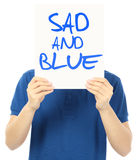 Sad And Blue Royalty Free Stock Photos