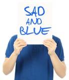 Sad And Blue royalty free stock photos