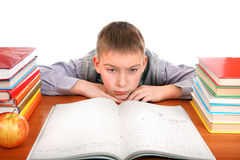 Sad and Bored Schoolboy Royalty Free Stock Photo
