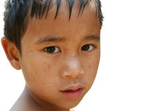 Sad boy 1. Close-up young boy Royalty Free Stock Photos