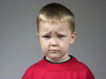 Sad boy. Boy with sad face Royalty Free Stock Image