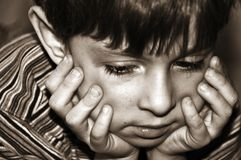 The sad boy Royalty Free Stock Images