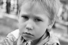 Sad boy. Royalty Free Stock Image
