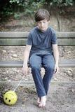 The sad boy Stock Photography