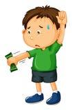 Sad boy handing money over Stock Photos