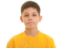 Sad boy portrait Stock Photography