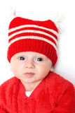 Sad boy in Red Hat Stock Images
