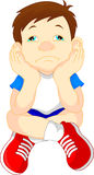 Sad boy. Vector illustration of sad boy Stock Illustration