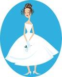 Sad bride Stock Image