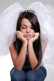 Sad bride princess Stock Photography
