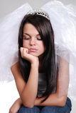 Sad bride princess Royalty Free Stock Photos