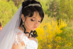 Sad bride princess Stock Image