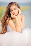 Sad bride royalty free stock image