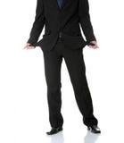 Sad and broke business man Stock Photo