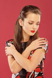 Sad brunette Stock Images