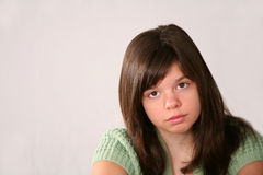 Sad brunette girl Royalty Free Stock Image