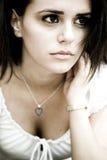 Sad brunette girl  Royalty Free Stock Photo