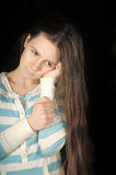 Sad brunette girl Royalty Free Stock Photo