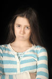 Sad brunette girl Stock Photography
