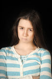 Sad brunette girl Royalty Free Stock Photography