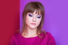 Sad brunette girl Stock Image