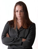 Sad brunette woman. A sad and depressed brunette business woman Stock Photo
