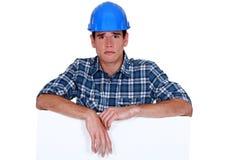 Sad builder Royalty Free Stock Photo