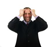 Sad business man isolated on white Stock Image