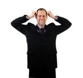 Sad business man isolated on white Royalty Free Stock Photo