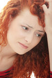 Sad business woman Royalty Free Stock Photography