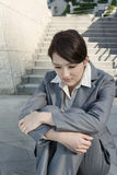 Sad business woman feel helpless Royalty Free Stock Photos